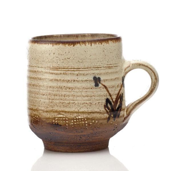 saltglaze mug, Dillon, 1970