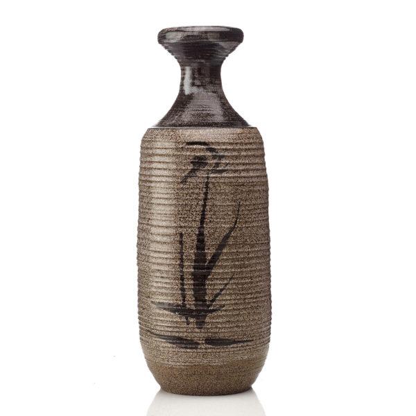 Wedgwood stoneware saltglaze Dillon flask, 1970