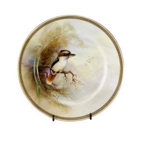 Royal Worcester handpainted kookaburra plate, 1917
