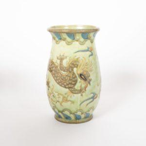 Dragon slip trail decorated Vase, circa 1930
