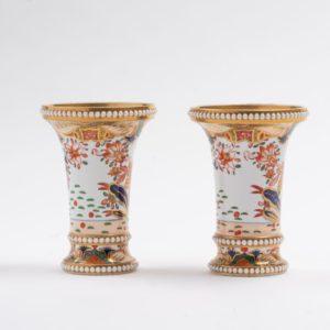 Pair Spode Japan pattern Spill vases c.1820