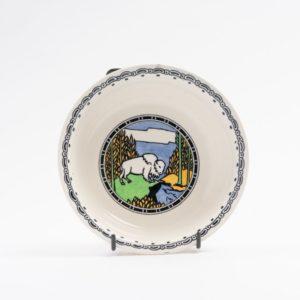 wedgwood yellowstone pattern cereal bowl, makeig-jones