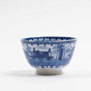 Rare railway transfer printed Tea Bowl c.1830
