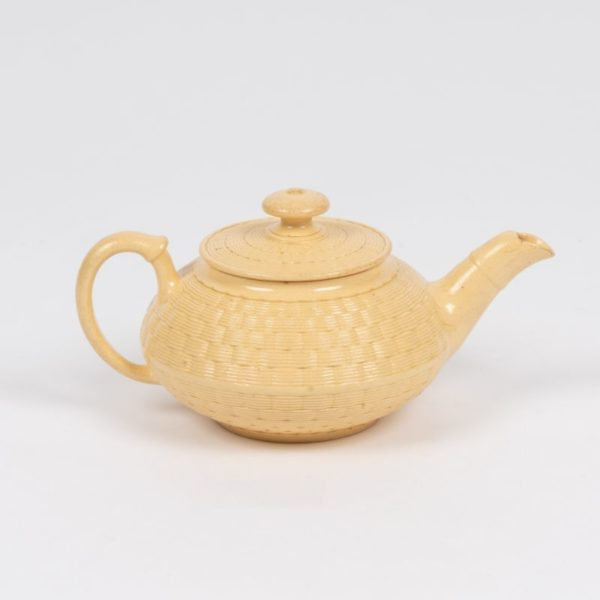 Wedgwood Caneware moulded Teapot c.1820