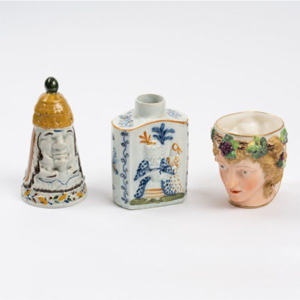 Creamware moulded Vessels circa 1800