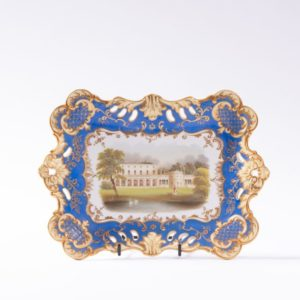 Ridgway hand-painted dish, title on reverse