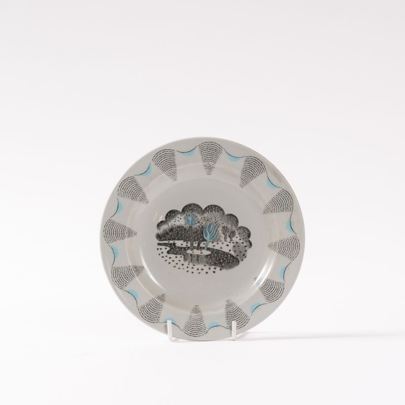Ravilious snowstorm plate, Wedgwood, 1954