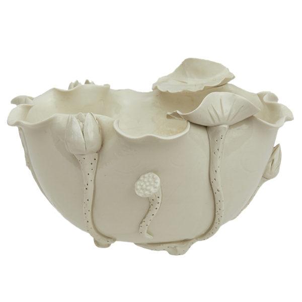 Chinese Dehua Lotus Bowl, Blanc-de-Chine glaze 18th Century