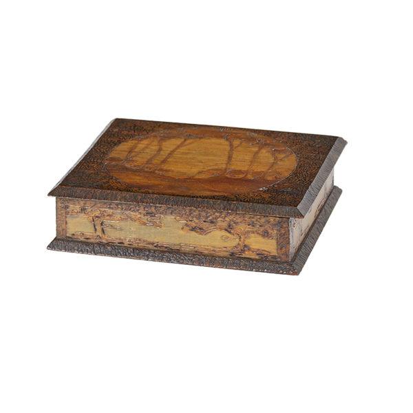 Pokerwood Box, Mulga wood c 1910