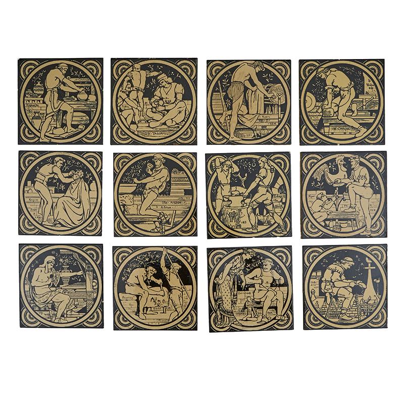 Minton professions tiles, 1872